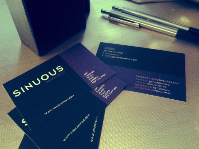Sinuous Magazine Business Card Design