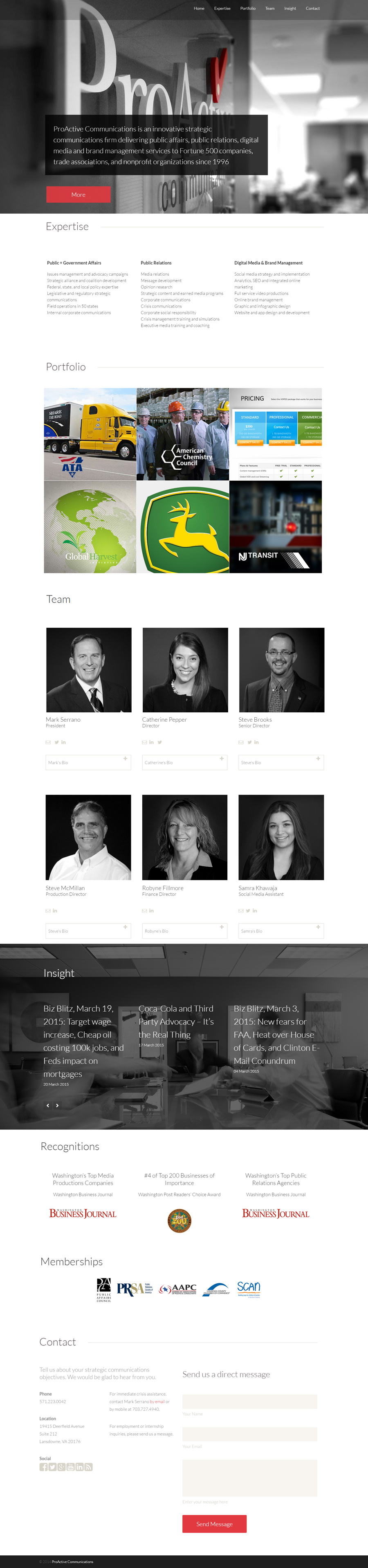 Parallax Website Redesign for Communications Firm