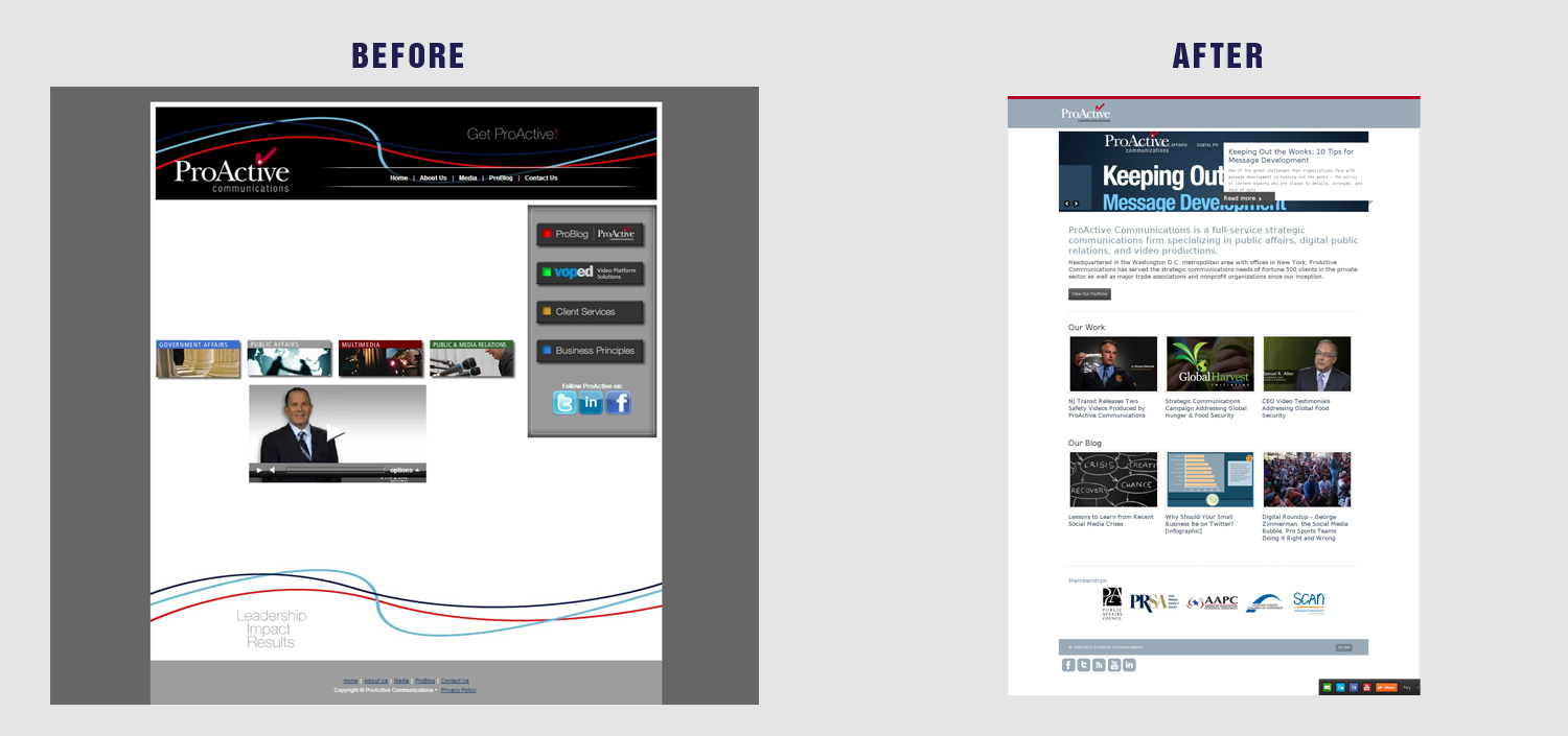 Communications Firm Website Redesign