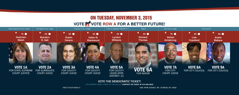 Mayoral Campaign Vote Ballot Ad