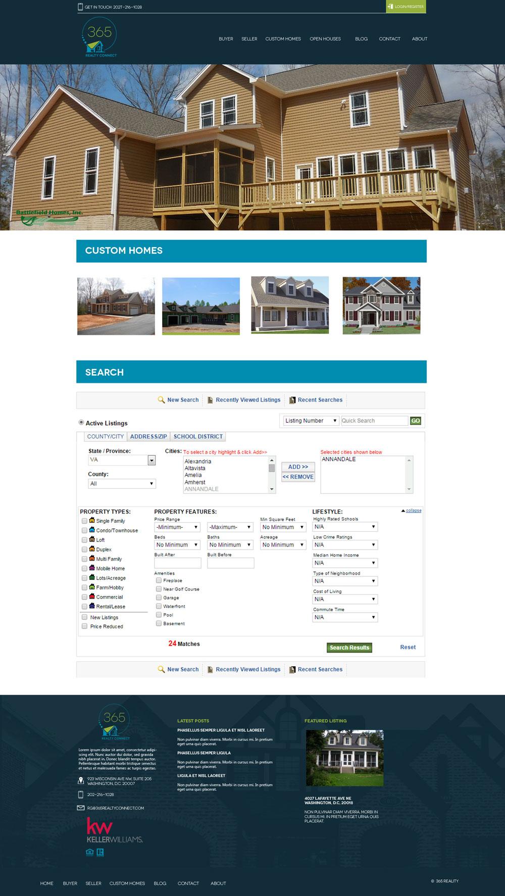 Real Estate Company Website Mock - Home