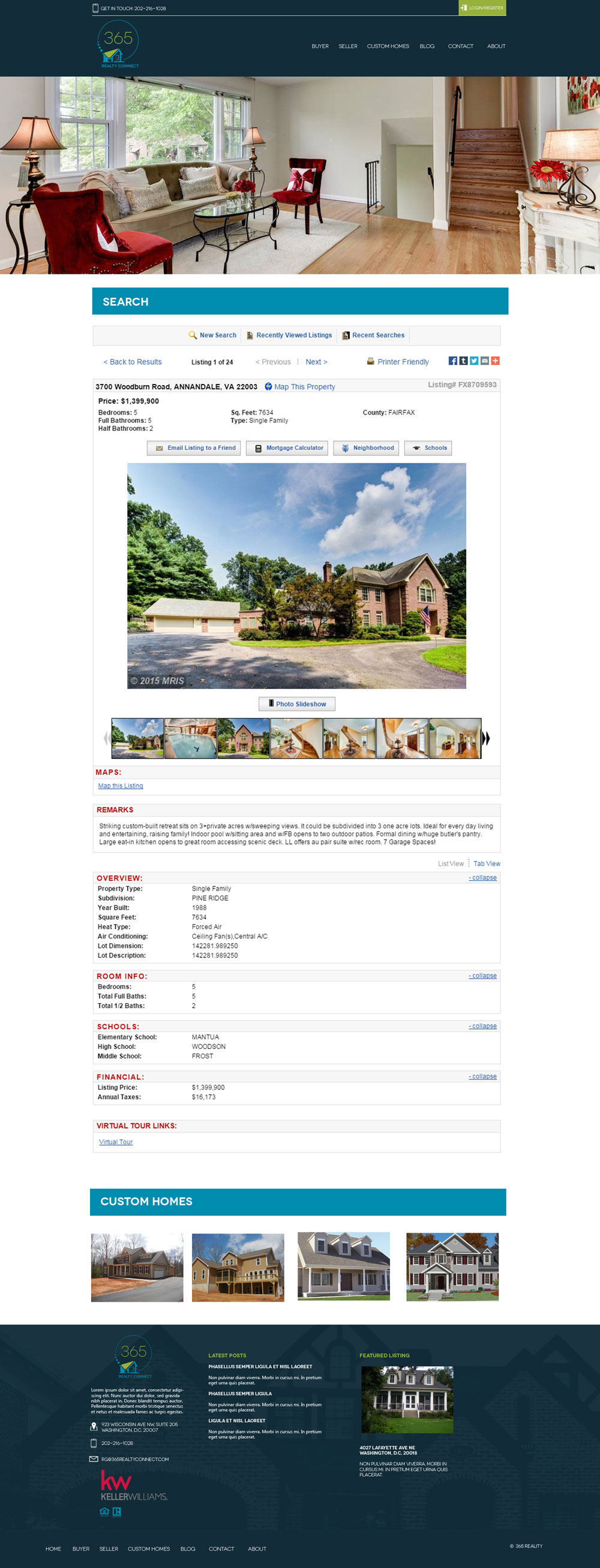 Real Estate Company Website Mock - Single