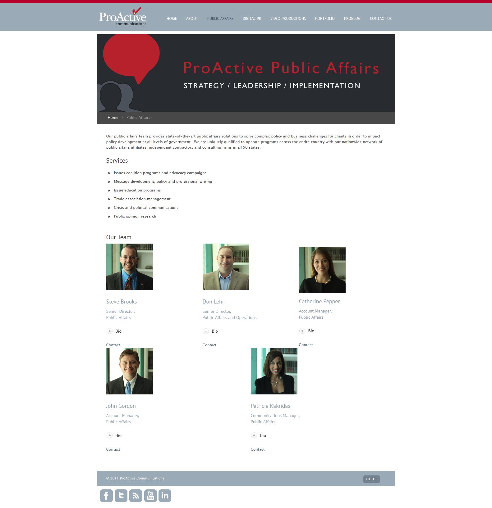 Digital Team Page