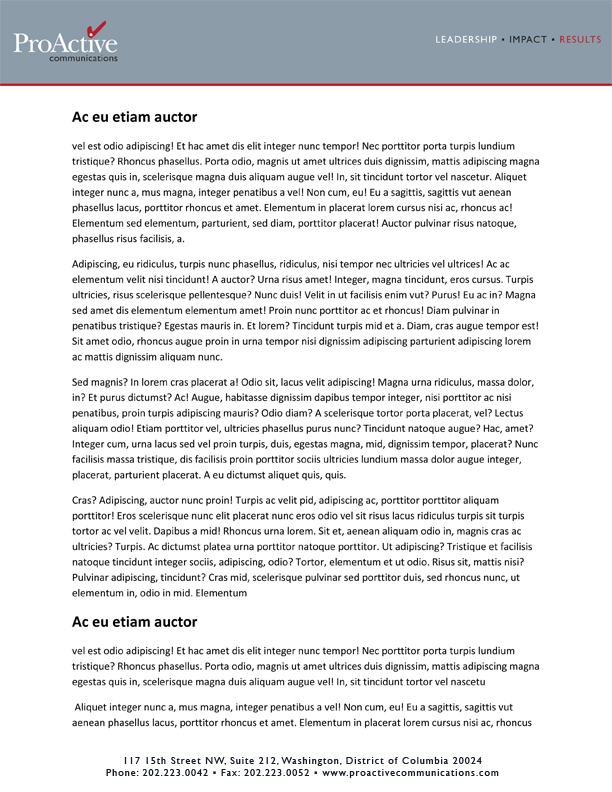 Communications Firm Business Letterhead Design