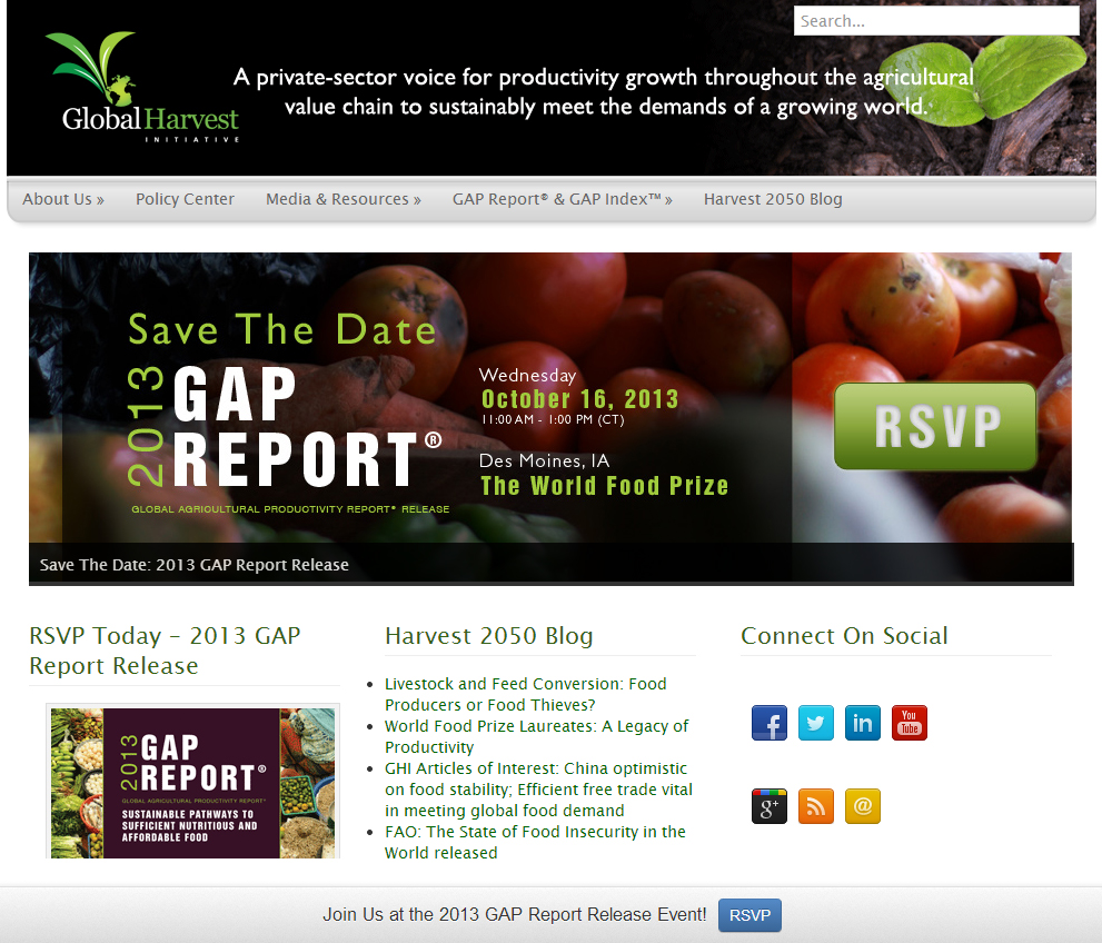 Agricultral Event Promotion on Website