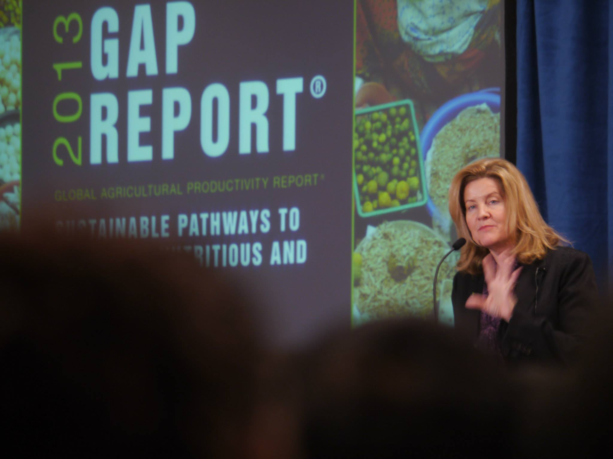 Event at the World Food Prize in Iowa