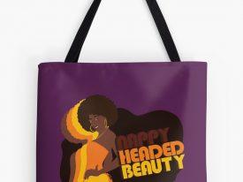 """Nappy Headed Beauty"" Tote Bags"