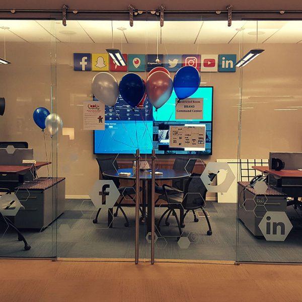 Social Media Command Center Glass Design