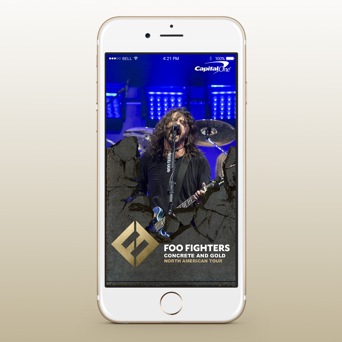 Foo Fighters Concrete Gold Tour Snapchat Filters - Concept 1