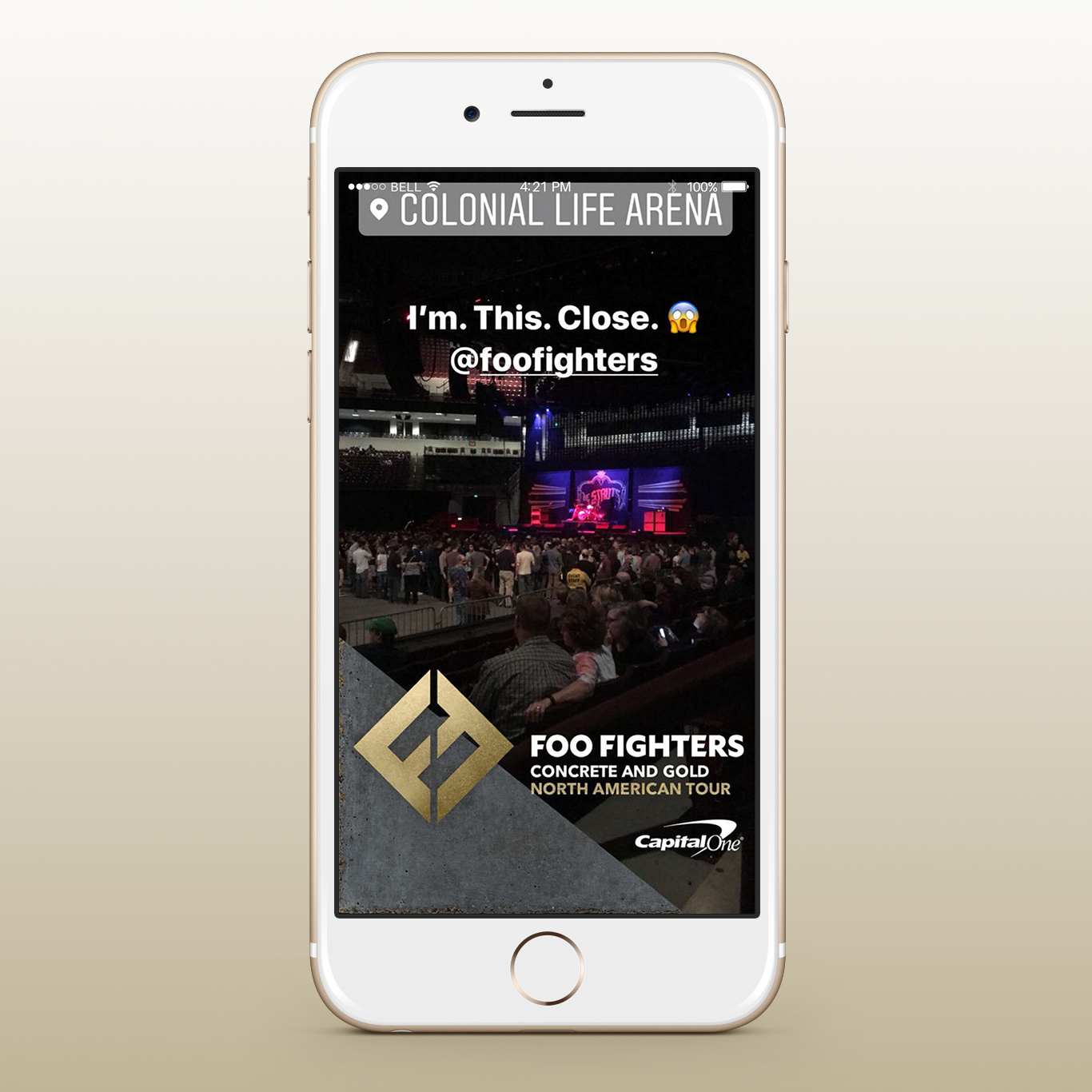 Foo Fighters Concrete Gold Tour Snapchat Filters - Final
