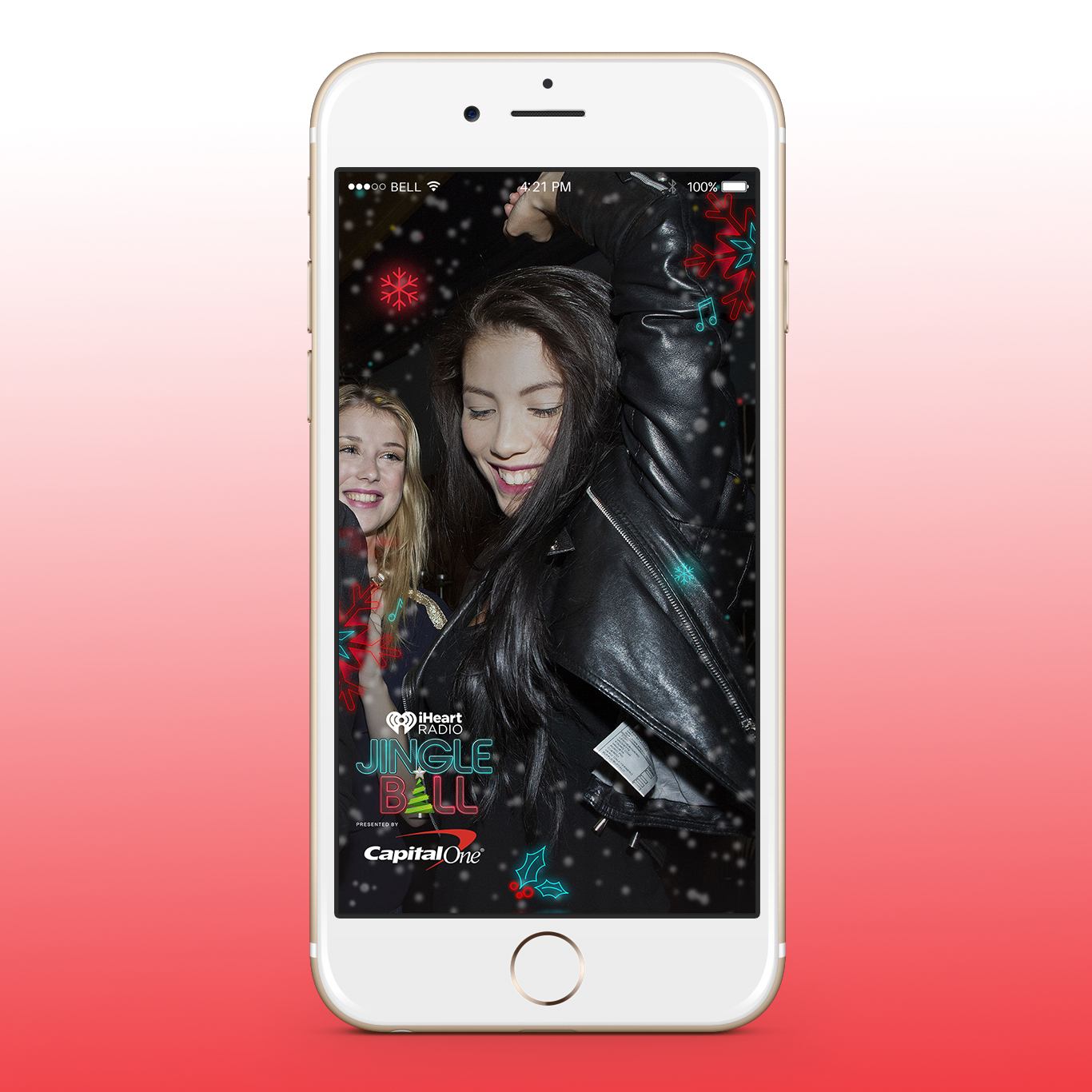 iHeart Jingle Ball Snapchat Filters - Concept 4