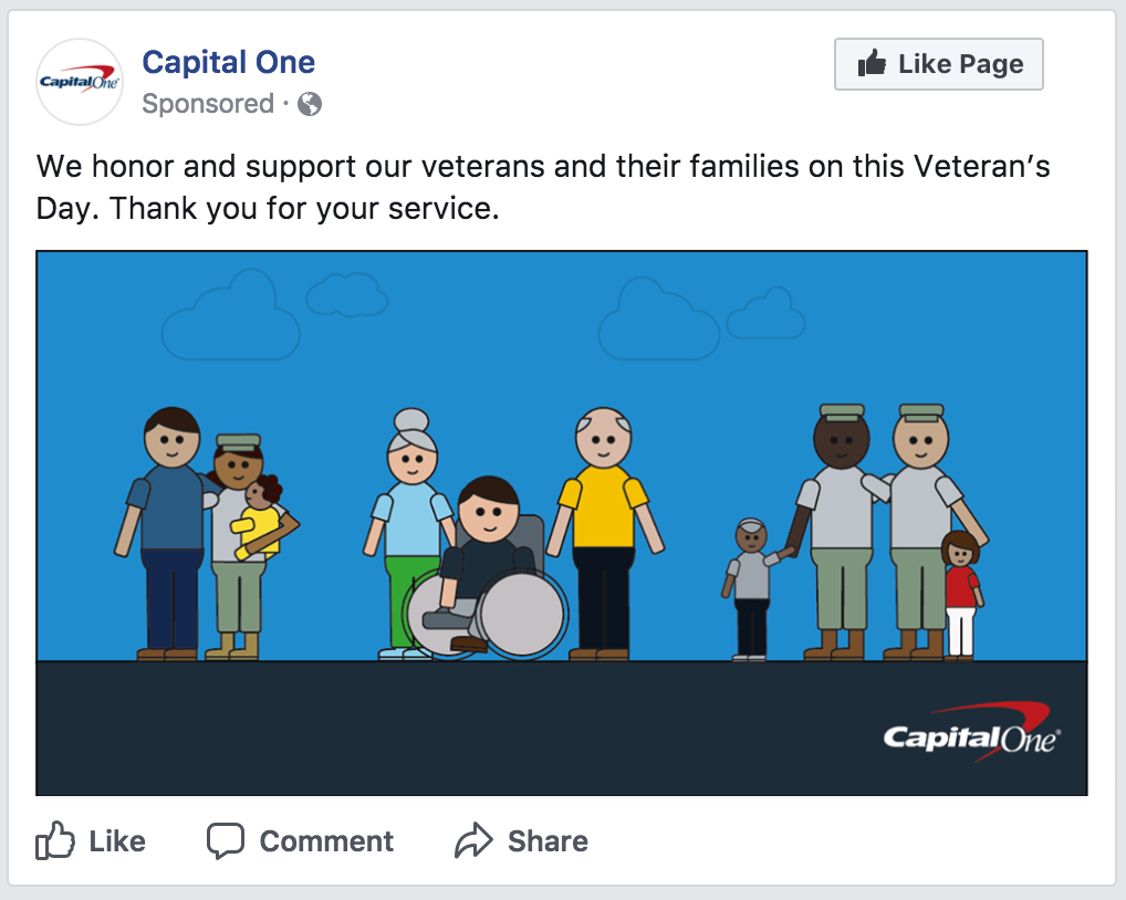 """Veterans Day - """"Families Concept"""" on Facebook"""