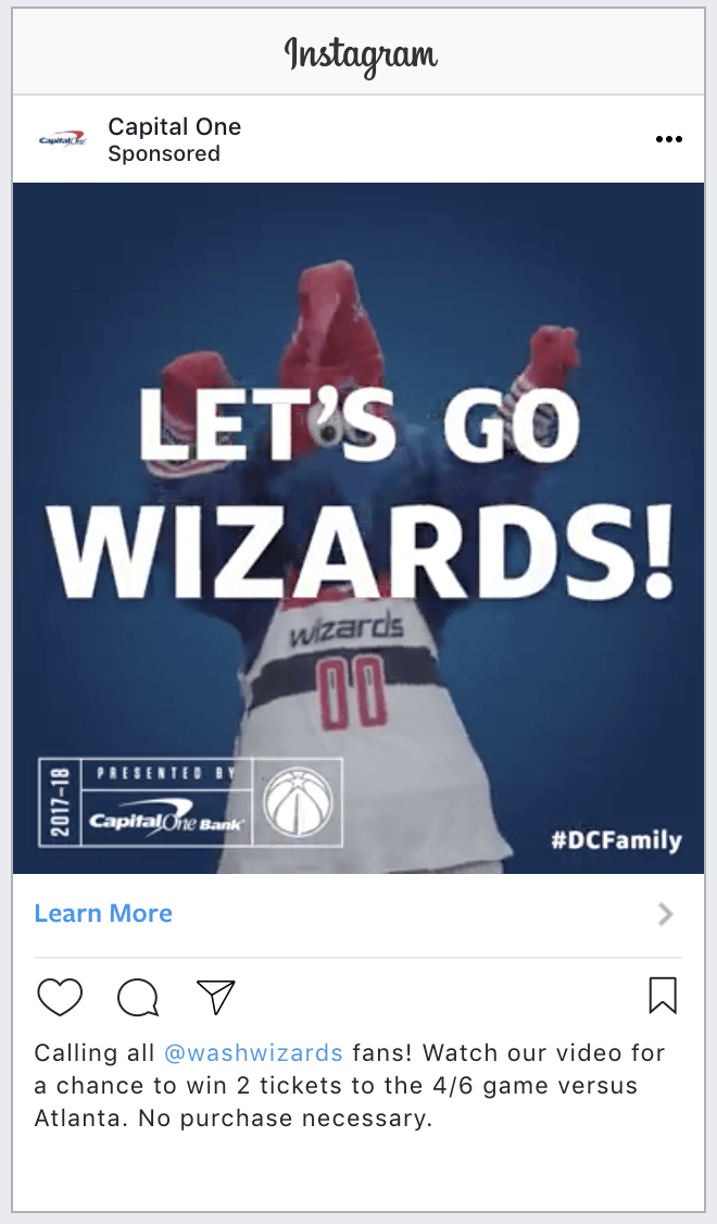 Washington Wizards Contest on Facebook