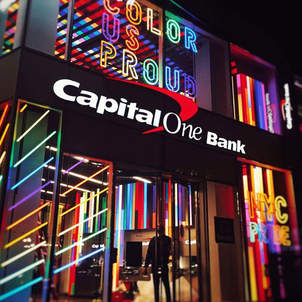NYC Pride Bank Corner in Union Square