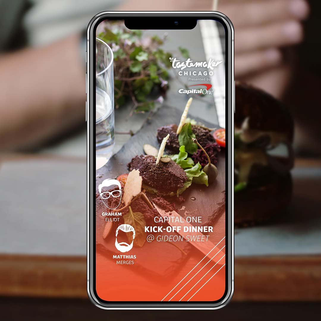 Tastemaster Chicago Dinner - Snapchat Filter