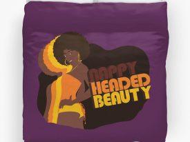 """""""Nappy Headed Beauty"""" Duvet Covers"""