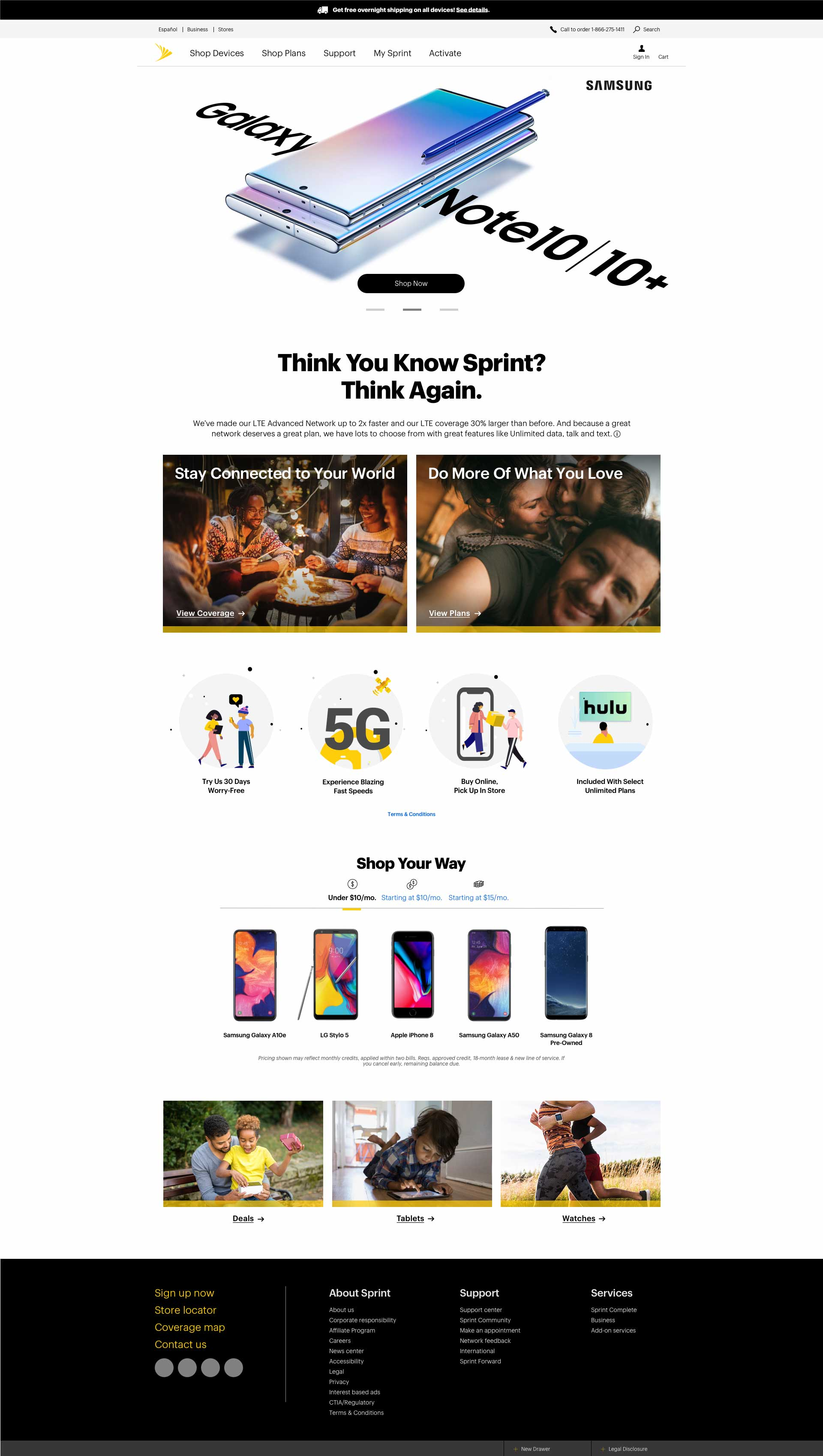 Telecom Homepage Design: Carousel 2