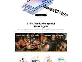 Art Direction, Design & QA of Sprint Homepage Redesign